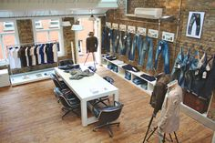 Denhams concept store, London. Industrial but warm feeling with a sens of craftsmanship #retail #storytelling #design