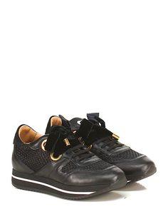 TWIN-SET SIMONA BARBIERI - Sneakers - Donna - Sneaker in pelle, camoscio e…