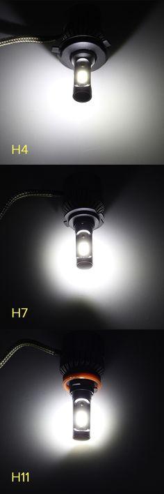 Pair 36W 8000LM COB LED Car Headlights Fog Lamps Bulbs H4 H7 H11 9005 9006 6500K White Car Lights, Ceiling Lights, Car Headlight Bulbs, Car Headlights, Lamp Bulb, Led, Car Audio, Track Lighting, Lamps