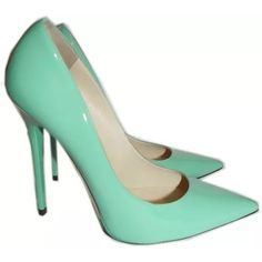 Jimmy Choo Anouk Mint patent leather heels Sz 39 Authentic Jimmy Choo limited edition Mint Green Anouk heels comes in the originally box. This absolutely gorgeous patent leather pump would make a darling entrance into your collection. They are so beautiful I am so sorry to see them go! I wore them once to my mothers retirement party. Unfortunately for me they are a half a size too small. So I plan to use the funds to get a pair that fits. Jimmy Choo Shoes Heels