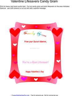 Valentine's Day Lifesavers Candy Gram