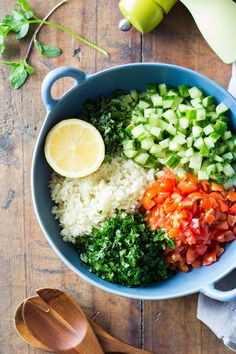 A gluten-free version of the famous Lebanese tabbouleh: Cauliflower Couscous. An extraordinary way to add in more veggies into your diet and spice them up in a delicious way.