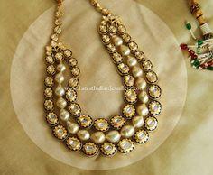 Pearl Polki Diamond Jadau Set | Latest Indian Jewellery Designs