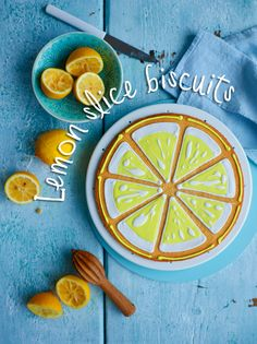 Lemon and almond biscuits. Fancy a slice? Bursting with lemon, these biscuits take just 30 minutes to make.