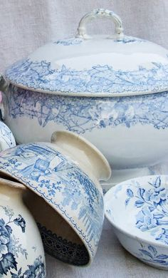 French blue china