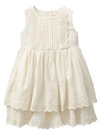Baby Gap 2014 Tiered Eyelet Dress in Ivory Frost Little Girl Fashion, Toddler Fashion, Kids Fashion, Little Girl Dresses, Girls Dresses, Flower Girl Dresses, Toddler Dress, Baby Dress, Toddler Girls