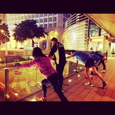 Running on a cold winter night #hongkong #running #outdoor #run #iphoneasia  - @sophieboomummy- #webstagram