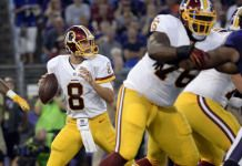 Kirk Cousins is still wearing his shoulderpads from Michigan State Robert Griffin Iii, Kirk Cousins, Usa Today Sports, Sports Images, Why Do People, Michigan, The Incredibles, Movies, How To Wear