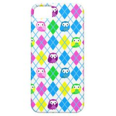 #Cute Colorful @Owl #Argyle iPhone 5 Covers