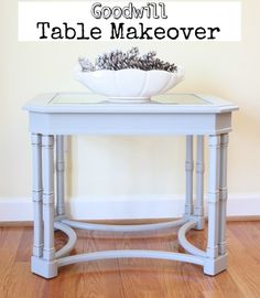 Goodwill table makeover - Virginia Sweetpea