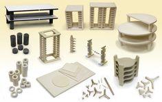 Kiln Furniture Including Shelves, Posts ,Tiles, Racks, Stilts and More