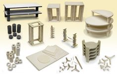 Kiln Furniture Including Shelves, Posts ,Tiles, Racks, Stilts and More