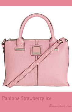 Pantone Strawberry Ice (pink color for spring summer Tote Handbags, Purses And Handbags, Pantone Color, Pantone 2015, Fashion For Women Over 40, Casual Chic Style, Spring Summer 2015, Restroom Decoration, Pink Color