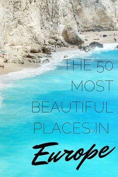 The 50 Most Beautiful Places in Europe It may be one of the smaller continents, but what Europe lacks in size, it makes up for in style. Take a look at 20 of the most beautiful places in Europe. Europe Destinations, Places In Europe, Europe Travel Tips, Places To Travel, Places To Visit, Europe Europe, Travel Hacks, Travel Ideas, Best Beaches In Europe