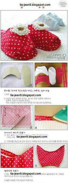 para hacer tus propias zapatillas de casa! (pantuflas)
