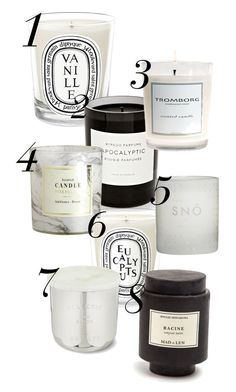 """Scented candles"" by emsa1000 ❤ liked on Polyvore featuring interior, interiors, interior design, home, home decor, interior decorating, Diptyque, Byredo, H&M and Skandinavisk"