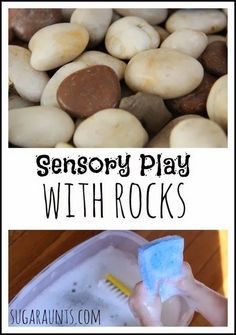 Sensory and fine motor play with ROCKS! By Sugar Aunts.