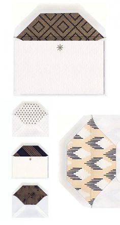 stripe & field envelope liners.