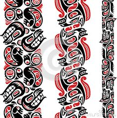 """Find """"native american pattern"""" stock images in HD and millions of other royalty-free stock photos, illustrations and vectors in the Shutterstock collection. Tiki Tattoo, 1 Tattoo, Tattoo Blog, Arm Tattoos, Small Tattoo, Life Tattoos, Sleeve Tattoos, Haida Tattoo, Haida Kunst"""