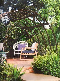 Steel pergola   House & Garden Australia magazine   April Issue