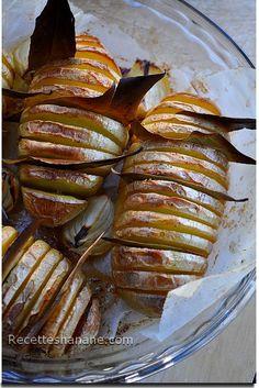 Une idée très simple pour accompagner un rôti de bœuf, poulet ou grillades... ces pommes de terre sont fondantes bien parfumées, et joliment présentées ! voici la recette : Il faut : Des pommes de terre de taille moyenne avec une peau fine De l'huile...