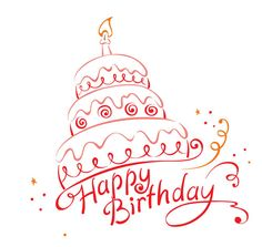 Cake ans Happy Birthday vector image on VectorStock Happy Birthday Drawings, Happy Birthday Art, Birthday Card Drawing, Belated Birthday, Birthday Greetings, Birthday Icon, Birthday Letters, Birthday Messages, Birthday Cards