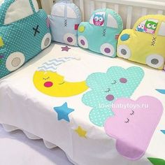 Photo - Artistic arrangement for tables handicrafts girls Baby Pillows, Kids Pillows, Cot Bumper, Baby Sewing Projects, Baby Bedroom, Baby Crafts, Baby Decor, Kids And Parenting, Baby Items