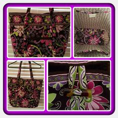 💜👜  NWOT Vera Bradley Grand Tote 👜💜 Brand New Never Used Vera Bradley Grand Tote In Retired Rare Purple Punch Pattern. This Is Perfect For Spring & Summer Very Cute Tote With So Much Space 6 Interior Slip Pockets, Exterior Slip Pocket With Keychain Attached And Exterior Zippered Pocket. The Shoulder Straps Are Padded For Additional Comfort. Excellent Condition 🚫 TRADES 🚫 PAYPAL 🚫 NO OFFERS ACCEPTED AT THIS TIME PRICE IS FINAL  👜💜 Vera Bradley Bags Totes
