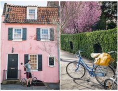 Portrait location: The Pink House (Oldest house in Charleston) + Springtime outside of the Old Slave Mart - April O'Hare Photography http://www.apriloharephotography.com