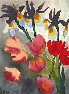 EMIL NOLDE / LILIEN UND TULPEN (LILIES AND TULIPS)