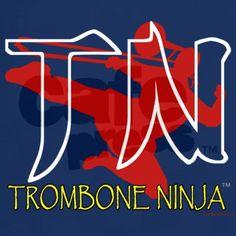 Trombone Ninja Dark T-Shirt