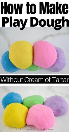 How to Make No-Cook Playdough Without Cream of Tartar