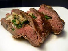 [Mushroom and Spinach Stuffed Flank Steak] #food