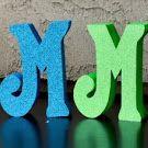 Summer Word Set using #AmericanCrafts #neon #glitter