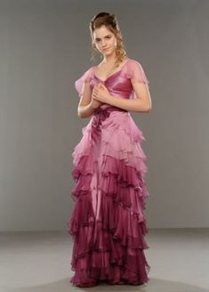 Modest Is Hottest! Movie Prom Edition: Hermione Granger Rocks Ruffles!! I love her dress!!