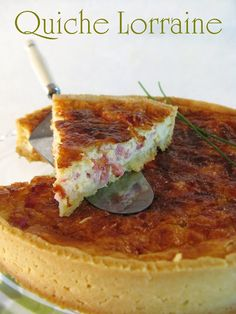 Quiche Lorraine (en francais site) - I found this good, it wasn't as light and fluffy as some yummy quiches, but it was really creamy which was good.
