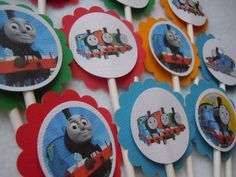 I can diy these...Thomas the Train Choo Choo Birthday Party by MoreThanaCupcake, $10.50
