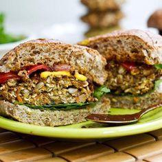 Hamburguesa vegetariana Receta: El Umami Burger - Fitnessmagazine.com