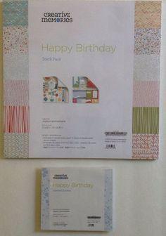 Creative Memories HAPPY BIRTHDAY Stack Pack & Layered Stickers #CreativeMemories