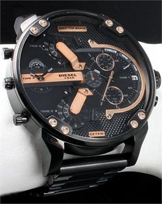 diesel watches - only the brave Amazing Watches, Cool Watches, Men's Watches, Dream Watches, Big Face Watches, Sport Watches, Diesel Watches For Men, Luxury Watches, Jewelry Watches