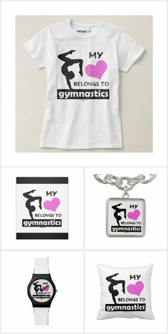 My Heart Belongs to Gymnastics Collection by Golly Girls - t-shirts, iPhone cases, throw pillows, fleece blankets, and more!
