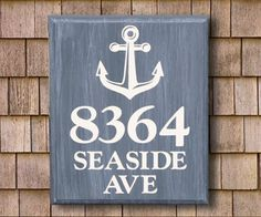 Beach House Sign Address Plaque Lake By Customcreationssigns Signs