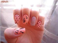 How To Do Music Note Nails