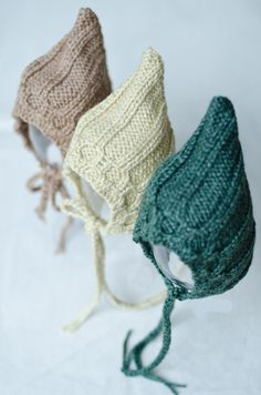Newborn bonnet / knit newborn boy bonnet / baby by SOFTKNOT, $21.99