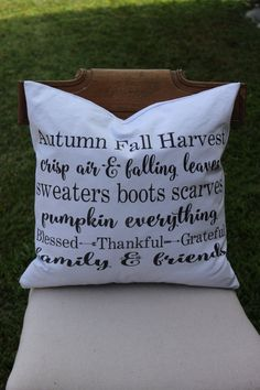 Fall Pillow Sham, Cover by tatteredgoods on Etsy