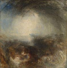 TURNER William (1775 - 1851) Ombre et obscurité – le soir du Déluge - Exposé en 1843