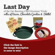 Last day of giveaway: chocolate and bacon!