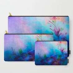 Sunset Painterly Floral Carry-All Pouch
