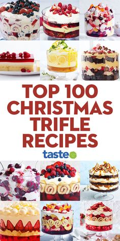 Christmas Trifle, Best Christmas Desserts, Christmas Baking, Christmas Brownies, Trifle Bowl Desserts, Delicious Desserts, Trifle Cake, Dessert Recipes, Best Trifle Recipe