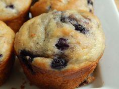 Blueberry Lemon Banana Yogurt Muffins